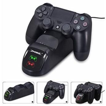 J&T PS4 コントローラー 充電 PS4 充電 スタンド DS4/PS4 Pro/PS4 Slim 充電器 2台同時充電可能 DUALSHOCK4