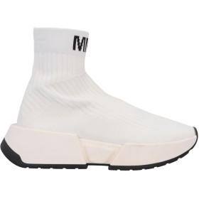 《期間限定セール開催中!》MM6 MAISON MARGIELA レディース スニーカー&テニスシューズ(ハイカット) ホワイト 38 紡績繊維