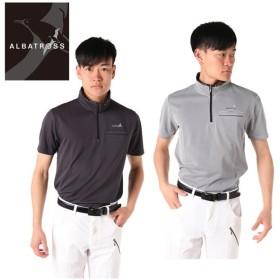 アルバトロス ALBATROSS ゴルフウェア ポロシャツ 半袖 メンズ ブロックジャガードハーフZIP 9232-4509