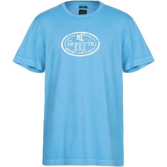 《期間限定セール開催中!》HENRY COTTON'S メンズ T シャツ アジュールブルー XL コットン 100%