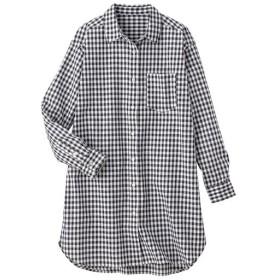 29%OFF【レディース】 UVカット ロングシャツ(綿100%) ■カラー:チェックG ■サイズ:S,L,M