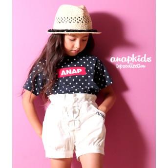 【セール開催中】ANAP KIDS(キッズ)ドット×BOXロゴTシャツ
