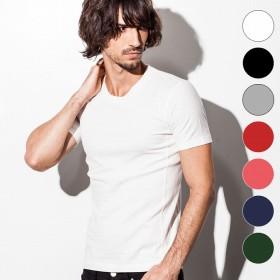 Tシャツ - SHIFFON 1PIU1UGUALE3 RELAX(ウノピゥウノウグァーレトレ)ベーシックUネックTシャツ(ホワイト/ブラック/グレー/レッド/ピンク/ネイビー/Dグリーン) MADE INJAPANメンズファッション