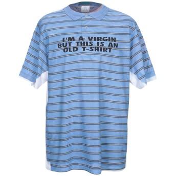 《期間限定セール開催中!》VETEMENTS メンズ T シャツ アジュールブルー XS コットン 100%