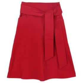(ur's/ユアーズ)ウエストリボン台形スカート/レディース レッド