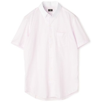 【20%OFF】 メンズビギ 《フィールドセンサー》ショートスリーブストライプシャツ/B.D.ワンピースカラー メンズ ピンク L 【Men's Bigi】 【セール開催中】