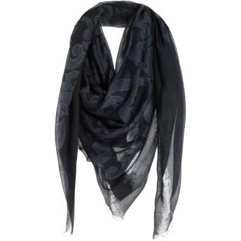 《9/20まで! 限定セール開催中》VERSACE メンズ スカーフ ブラック レーヨン 85% / シルク 15%