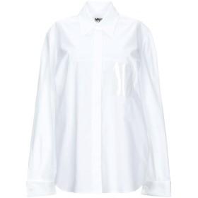 《期間限定セール開催中!》MM6 MAISON MARGIELA レディース シャツ ホワイト 40 コットン 100% / ポリ塩化ビニル