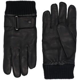 《送料無料》EMPORIO ARMANI メンズ 手袋 ブラック XL 羊革(ラムスキン) 100% / アクリル