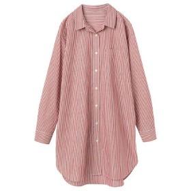 29%OFF【レディース】 UVカット ロングシャツ(綿100%) ■カラー:ストライプE ■サイズ:S