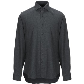 《9/20まで! 限定セール開催中》XACUS メンズ シャツ スチールグレー 41 コットン 100%