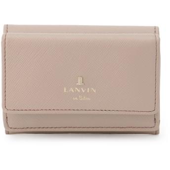 LANVIN en Bleu(BAG) LANVIN en Bleu ランバンオンブルー リュクサンブール 三つ折り財布 財布,オールドローズ