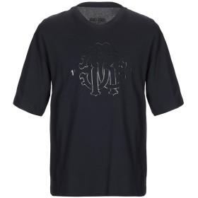 《セール開催中》ROBERTO CAVALLI メンズ T シャツ ダークブルー XS コットン 100%