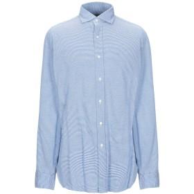 《9/20まで! 限定セール開催中》GIAMPAOLO メンズ シャツ アジュールブルー M コットン 100%