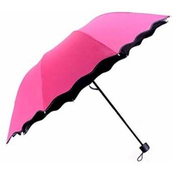 晴雨兼用傘 レディース 日傘 雨に濡れると桜柄が浮き出る傘 浮き桜 雨傘 紫外線対策 撥水加工 折りたたみ傘 軽量 花柄 浮き上がる 折り畳