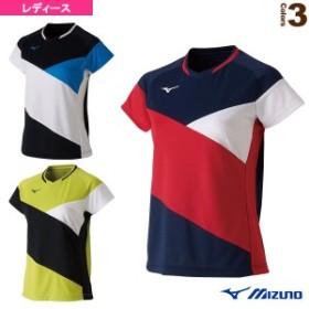 [ミズノ テニス・バドミントン ウェア(レディース)]ゲームシャツ/レディース(72MA9221)