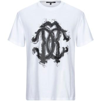 《セール開催中》ROBERTO CAVALLI メンズ T シャツ ホワイト S コットン 100%