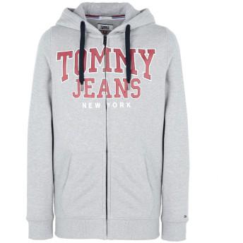 《期間限定セール開催中!》TOMMY JEANS メンズ スウェットシャツ グレー M 100% コットン