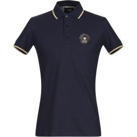 《期間限定セール開催中!》CAVALLI CLASS メンズ ポロシャツ ダークブルー S コットン 100%