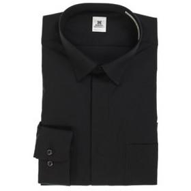 【semantic design:トップス】形態安定スリムフィット ショートレギュラーカラー長袖シャツ
