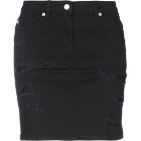《期間限定 セール開催中》LOVE MOSCHINO レディース デニムスカート ブラック 40 コットン 94% / ポリエステル 4% / ポリウレタン 2% / ナイロン