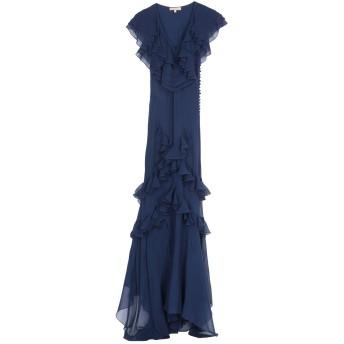 《セール開催中》MICHAEL KORS COLLECTION レディース ロングワンピース&ドレス ダークブルー 2 シルク 100%
