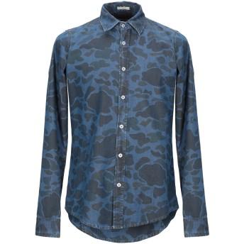 《期間限定セール開催中!》RO ROGER'S メンズ デニムシャツ ブルー L コットン 100%