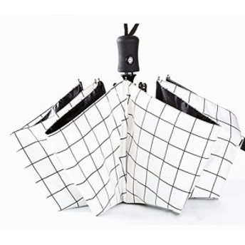 QIJOVO 折りたたみ傘 ワンタッチ自動開閉 高強度 8本骨 晴雨兼用 折り畳み傘 日傘 UVカット 紫外線遮蔽率100% 高密度NC布 耐風撥水