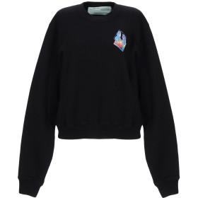《セール開催中》OFF-WHITE レディース スウェットシャツ ブラック XXS コットン 100%