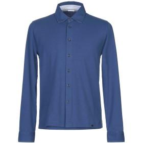 《期間限定セール開催中!》HERITAGE メンズ シャツ ブルー 50 コットン 95% / ポリウレタン 5%