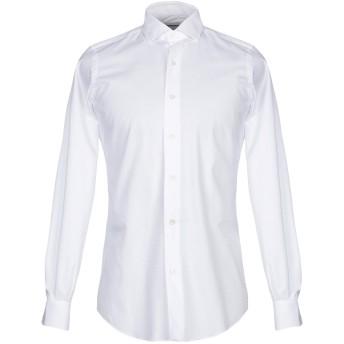 《セール開催中》TAKESHY KUROSAWA メンズ シャツ ホワイト 38 コットン 100%
