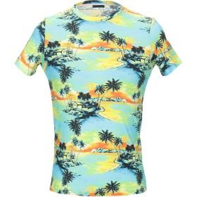 《期間限定 セール開催中》PATRIZIA PEPE メンズ T シャツ ターコイズブルー M コットン 100%