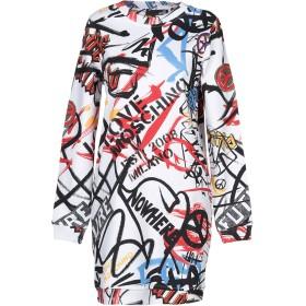 《セール開催中》LOVE MOSCHINO レディース ミニワンピース&ドレス ホワイト 40 コットン 100% / ポリウレタン