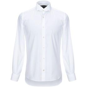 《期間限定 セール開催中》DOMENICO TAGLIENTE メンズ シャツ ホワイト 39 コットン 98% / ポリウレタン 2%