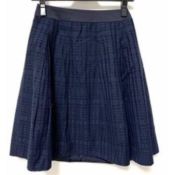 ニジュウサンク 23区 スカート サイズ30 XS レディース 美品 ダークネイビー チェック柄/vingt-trois arrondissements【中古】