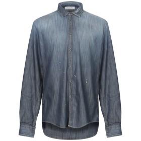 《期間限定 セール開催中》AGLINI メンズ デニムシャツ ブルー 40 コットン 98% / ポリウレタン 2%