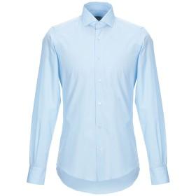 《セール開催中》TAKESHY KUROSAWA メンズ シャツ スカイブルー 38 コットン 100%
