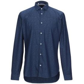 《期間限定 セール開催中》MANUEL RITZ メンズ シャツ ダークブルー 41 コットン 100%