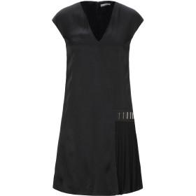 《期間限定 セール開催中》VERSACE COLLECTION レディース ミニワンピース&ドレス ブラック 40 ポリエステル 41% / レーヨン 34% / アセテート 25%