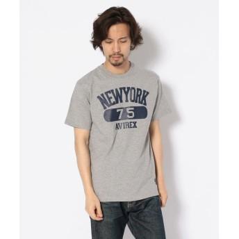 【40%OFF】 アヴィレックス プリントTシャツ ニューヨーク75/T SHIRT NEW YORK 75 メンズ GREY XXL 【AVIREX】 【セール開催中】