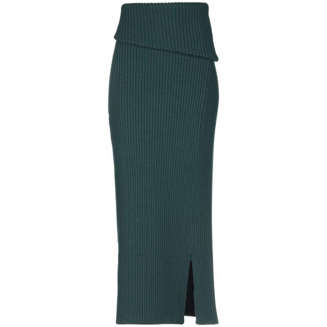 《送料無料》JACQUEMUS レディース 7分丈スカート ダークグリーン 40 ウール 100%