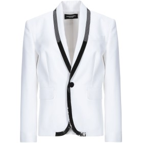 《9/20まで! 限定セール開催中》DSQUARED2 レディース テーラードジャケット ホワイト 42 コットン 66% / シルク 34% / ポリエステル