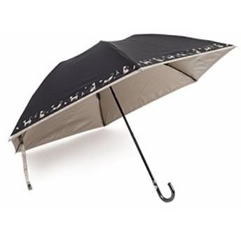 軽量 晴雨兼用 日傘 UVカット 紫外線99% カット ネコ柄 折りたたみ 50cm ミニ傘 (グレー)