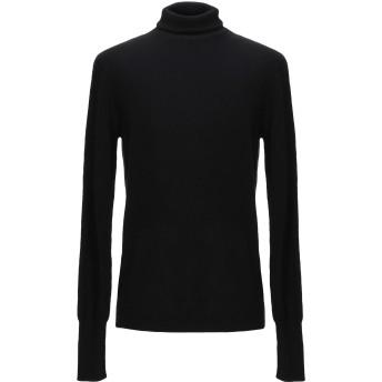 《セール開催中》BALLANTYNE メンズ タートルネック ブラック 52 カシミヤ 100%