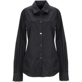 《期間限定セール開催中!》LOVE MOSCHINO レディース シャツ ブラック 42 コットン 97% / ポリウレタン 3%
