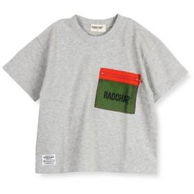 【40%OFF】 ブランシェス メッシュポケット付き半袖Tシャツ(90~140cm) レディース 杢グレー 100cm 【branshes】 【セール開催中】