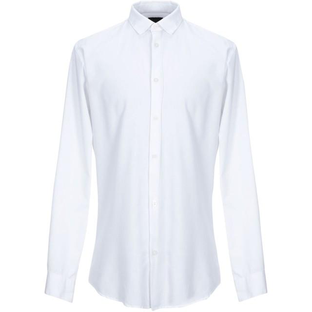 《期間限定セール開催中!》SELECTED HOMME メンズ シャツ ホワイト 42 オーガニックコットン 85% / 麻 15%