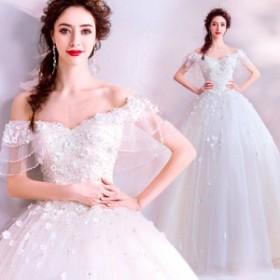 ウエディングドレス レディース ラインストーン付き 花嫁ドレス オシャレ バックレス 上品な ブライダルドレス ベアトップ ホワイト 披露