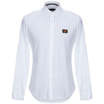 《9/20まで! 限定セール開催中》LOVE MOSCHINO メンズ シャツ ホワイト XS コットン 97% / ポリウレタン 3%