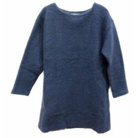 【中古】トランテアン ソン ドゥ モード 31 Sons de mode ニット セーター ワンピース チュニック 長袖 ウール 36 青 ブルー /ST レディ